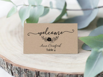 SEATING & TABLE CARDS